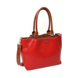 Dámská kabelka Doca 12656 – červená