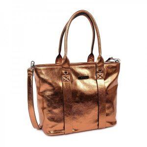 Dámská kabelka Doca 12768 – bronzová