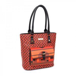 Dámská kabelka Doca 13039 – červená