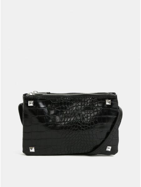bbdd0c89e6 Černá crossbody kabelka s hadím vzorem Pieces Patricia