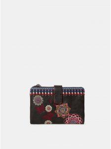 Černá peněženka s výšivkou Desigual Chandy Julia