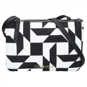 Dámská crossbody kabelka Calvin Klein Gwen – černo-bílá