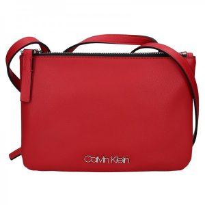 Dámská crossbody kabelka Calvin Klein Gwen – červená