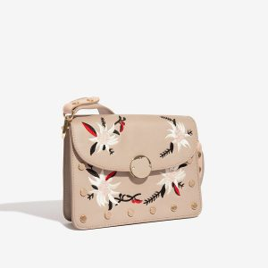 Béžová kabelka s výšivkou 30268