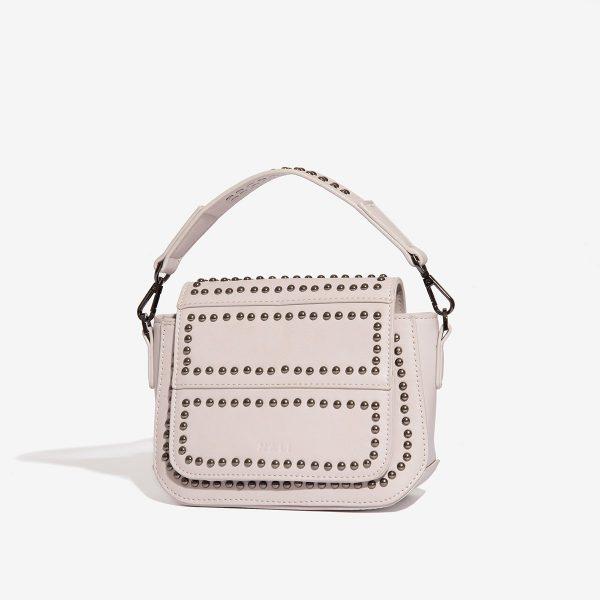 Béžová kabelka se cvočky 30272