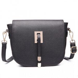 Černá kabelka Satchel Bag 43975