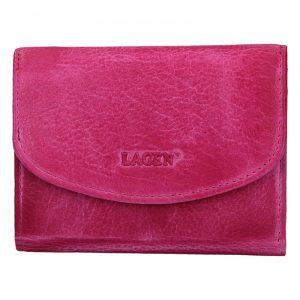 Dámská kožená peněženka Lagen Norra – růžová
