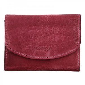 Dámská kožená peněženka Lagen Norra – fialová