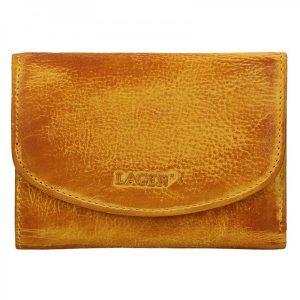 Dámská kožená peněženka Lagen Norra – žluto-hnědá