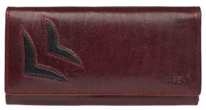 Lagen Dámská vínová kožená peněženka W/B 6011/T