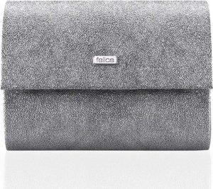 Stříbrné psaníčko FELICE Clutch se třpitkami (F14 SILVER GLITTER) Velikost: univerzální
