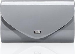 Lesklé šedé psaníčko FELICE Clutch (F15 DARK GREY SHINY) Velikost: univerzální