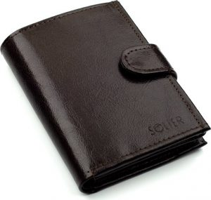 SOLIER Pánská hnědá peněženka (SW01 BROWN CLASP) Velikost: univerzální