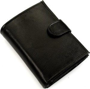 Pánská černá peněženka SOLIER (SW01 BLACK CLASP) Velikost: univerzální