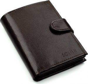 Elegantní peněženka SOLIER (SW04 BROWN CLASP) Velikost: univerzální