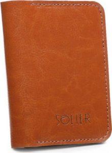 Elegantní pánská peněženka značky SOLIER (SW16 CAMEL) Velikost: univerzální