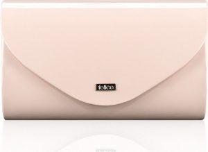 Leské růžové psaníčko FELICE Clutch (F15 LIGHT PINK SHINY) Velikost: univerzální