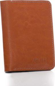 SOLIER Slim leather men's wallet (SW15A LIGHT BROWN) Velikost: univerzální