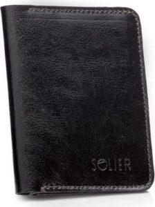 SOLIER Slim leather men's wallet (SW15A DARK BROWN) Velikost: univerzální