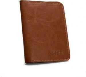SOLIER Slim leather men's wallet (SW15A BROWN) Velikost: univerzální
