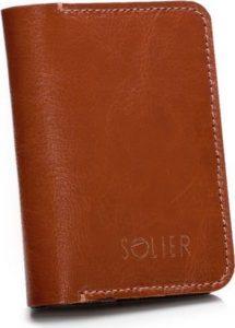 Kožená hnědá peněženka Solier (SW16A BROWN) Velikost: univerzální