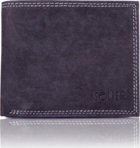 Pánská černá peněženka SOLIER (SW24 BLACK) Velikost: univerzální