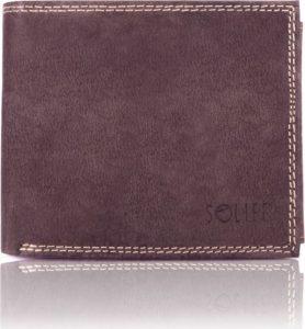 Pánská hnědá peněženka SOLIER (SW24 BROWN) Velikost: univerzální