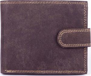 Pánská hnědá peněženka SOLIER (SW25 BROWN) Velikost: univerzální