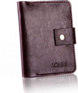 Slim leather men's wallet SOLIER (SW17 DARK BROWN) Velikost: univerzální