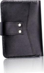 Slim leather men's wallet SOLIER (SW17 BLACK VINTAGE) Velikost: univerzální