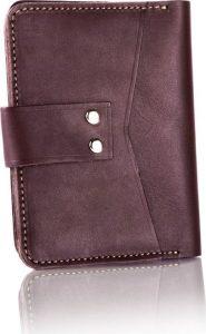 Slim leather men's wallet SOLIER (SW17 DARK BROWN VINTAGE) Velikost: univerzální