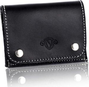 Slim leather men's card holder SOLIER (SW18 BLACK VINTAGE) Velikost: univerzální