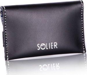 Slim leather men's card holder Solier (SW19 BLACK VINTAGE) Velikost: univerzální