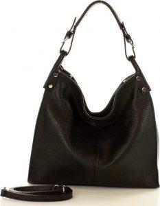 Černá kožená kabelka MAZZINI (s169a) Velikost: univerzální