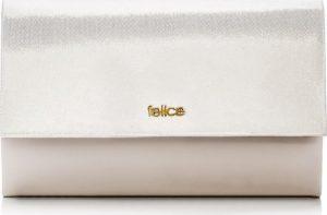 Krémové dámské psaníčko FELICE Clutch (F13C CREAM SHINY) Velikost: univerzální