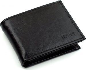 Elegantní černá peněženka SOLIER (SW03 BLACK) Velikost: univerzální
