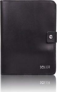 Genuine leather men's organiser Solier (SA21 BLACK) Velikost: univerzální
