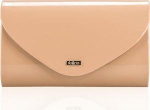 Lesklé béžové psaníčko FELICE Clutch (F15 BEIGE SHINY) Velikost: univerzální