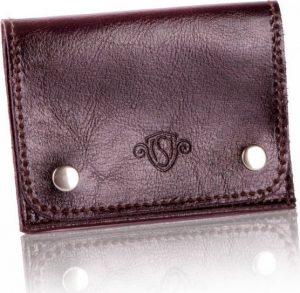 Slim leather men's card holder SOLIER (PORTFEL SW18 DARK BROWN) Velikost: univerzální