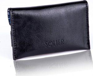 Slim leather men's card holder Solier (PORTFEL SW19 BLACK) Velikost: univerzální