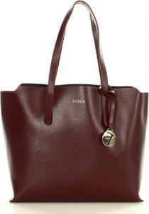 BASIC Dámská elegantní bordó kabelka z italské kůže (FU10c) Velikost: univerzální
