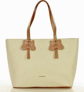 MONNARI Béžová shopper kabelka (0060a) Velikost: univerzální