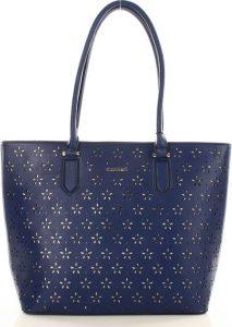 MONNARI Modrá kabelka s vyraženými květy (2940a) Velikost: univerzální