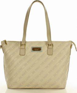 MONNARI Béžová shopper kabelka (3350a) Velikost: univerzální