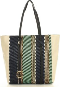 MONNARI Zelená shopper kabelka (3300a) Velikost: univerzální