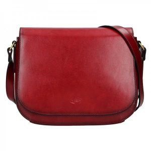 Kožená dámská crosbody kabelka Katana Zina – tmavě červená