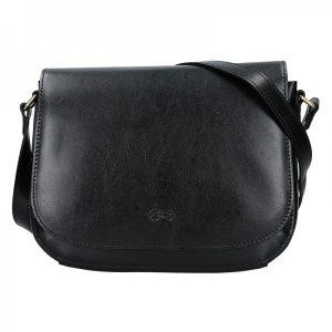 Kožená dámská crosbody kabelka Katana Zina – černá