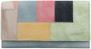 Lagen Dámská kožená peněženka V-17 Ocean Blue/Multi
