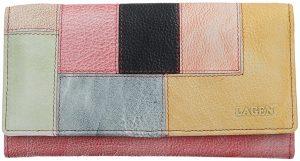 Lagen Dámská kožená peněženka V-17/D Lipstick/Multi