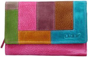 Lagen Dámská kožená peněženka LG-11/D Fuch/Multi